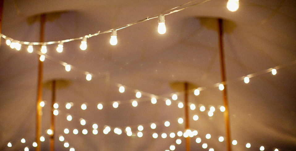 Custom Party String Lights : PHOTO GALLERY Sperry Tents Europe
